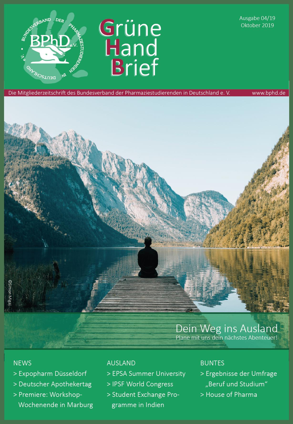 Oktober Ausgabe des GHB