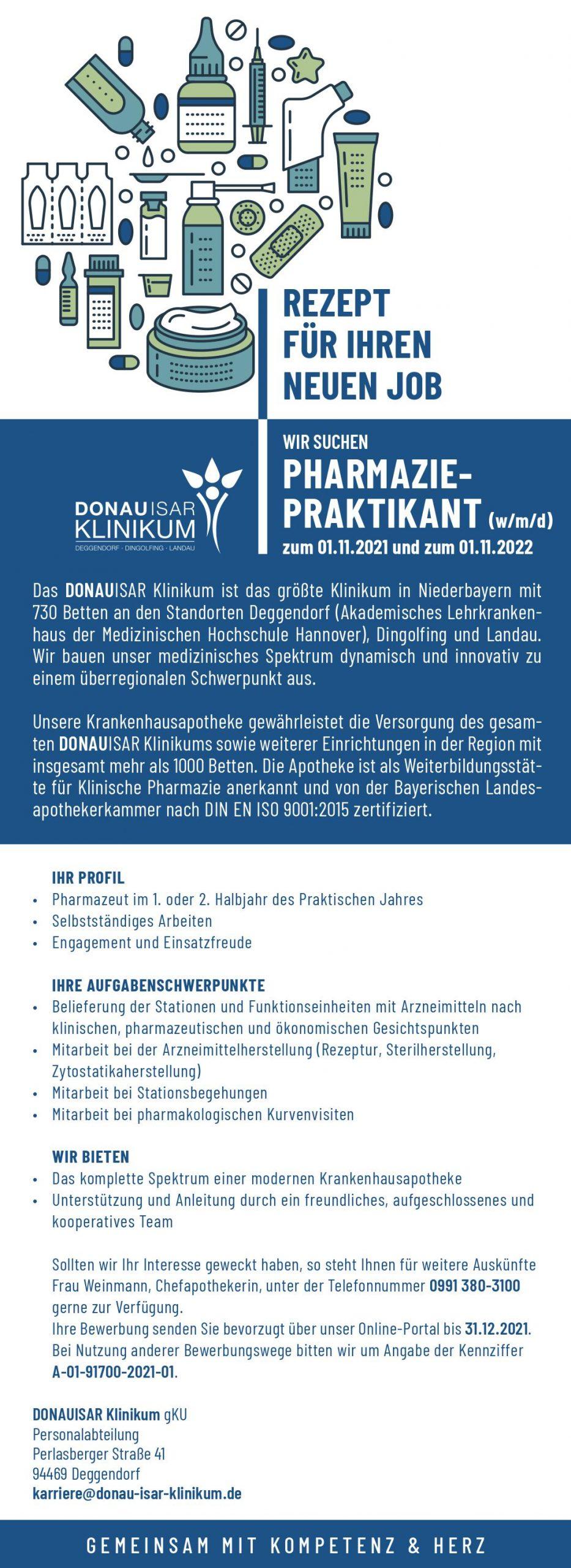 You are currently viewing PhiP (m/w/d) im DONAUISAR Klinikum Deggendorf ab 11/2021 und 11/2022